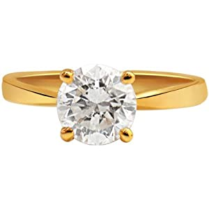 0.22ct Solitaire Diamond 18kt Gold Ring