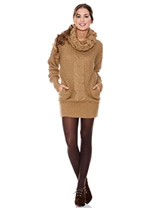 LAVAND Vestido Knit Céntrico (Marrón)
