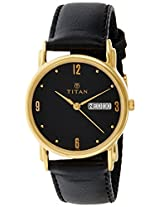 Titan Karishma Analog Black Dial Men's Watch - NE1445YL06