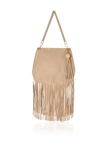 Stella & Jamie Women's Sue Studded Fringe Bag (Camel)