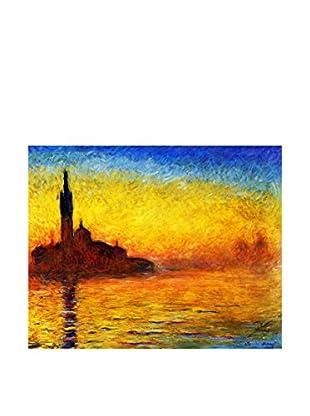 LegendArte  Wandbild Sunset in Venice von Claude Monet