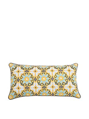 Rizzy Home Yellow Remy Flower Lumbar Pillow