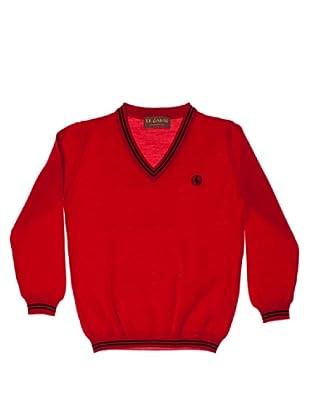 El Ganso Jersey Cuello Pico Liso (Rojo)