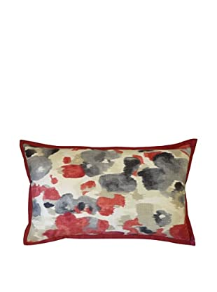 Water Color Throw Pillow, Red