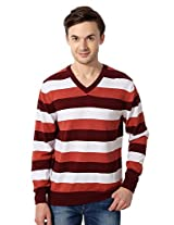 Allen Solly Casual Striped Sweater