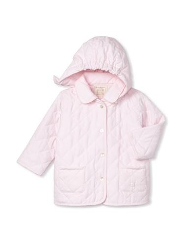 Emile et Rose Baby Girl's Microfiber Wadded Jacket with Detachable Hood (Pale Pink)