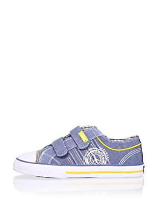 Pablosky Kid's Stitched Logo Sneaker (Jeans)