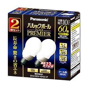 【クリックで詳細表示】パナソニック パルックボールプレミア A15形 電球60形タイプ クール色 (2個入) EFA15ED10H22T: ホーム&キッチン