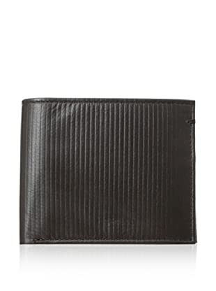 Ben Sherman Mens Corduroy Leather Billfold (Chocolate)