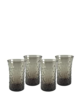 Artland Set of 4 Echo 12-Oz. Highball Glasses, Smoke