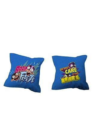 Euromoda Licencias Funda de Cojín Fan Boy & Chum Chum Frosty (Multicolor)