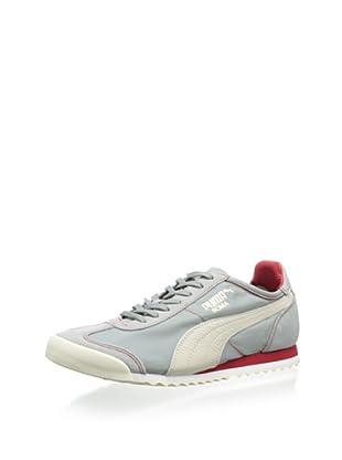 PUMA Roma Slim Nylon Fashion Sneaker (Limestone Gray/White Swan)