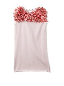 kicokids Girl's Tulle Pompom Shift Dress (Ladybug)