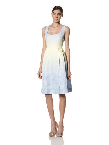 Jonathan Saunders Women's Freda Paisley Print Scoop Neck Dress (Violet/Ice)