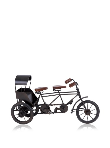 Industrial Chic Metal 3-Seater Bicycle