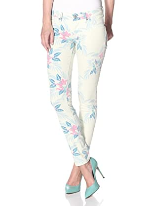 Driftwood Women's Hawaiian Print Skinny Jean (Yellow)