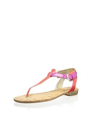 Elaine Turner Women's Mara Thong Sandal (Pink/Coral)