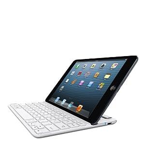 Belkin QODE Fast Fit Bluetooth Wireless Keyboard Case for iPad mini and iPad mini with Retina Display, White/Silver (F5L153ttC01)