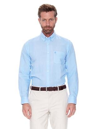 Cortefiel Camisa Lino Ppt (Azul)