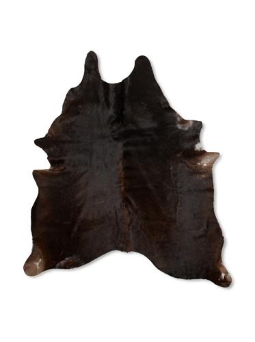 Shaped Hide Black Rug 3, 7' x 6'