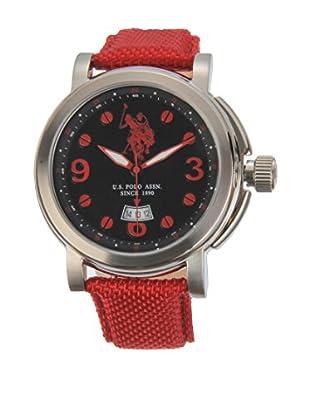 U.S. POLO ASSN. Uhr mit japanischem Quarzuhrwerk Attitude rot 45 mm