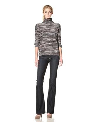 525 AMERICA Women's Reverse Knit Turtleneck (Gingersnap)