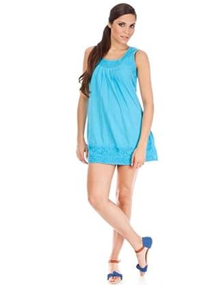 Cortefiel Vestido Verano (Azul)