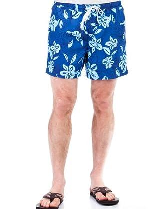 Cortefiel Bañador Flores (Azul)