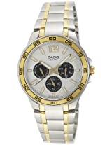 Casio Enticer White Dial Men's Watch - MTP-1300SG-7AVDF (A486)