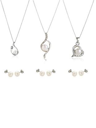 Diamond Style 3 Sets pendientes, cadena y colgante