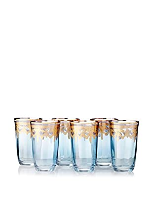 A Casa K Melodia Set of 6 Engraved Crystal 10-Oz. Highball Glasses