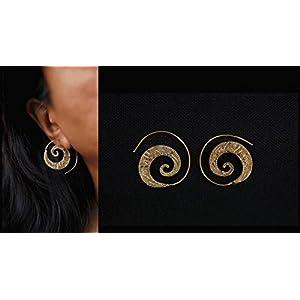 Desi Soul Brass Spiral Banjara Earring