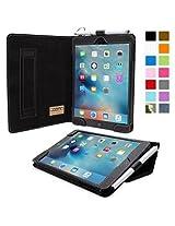 Snugg™ iPad Mini 4 Case - Smart Cover with Flip Stand & Lifetime Guarantee (Black Leather) for Apple iPad Mini 4 (2015)