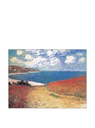 ArtopWeb Panel de Madera Monet Meadow Road To Pourville 60x80 cm