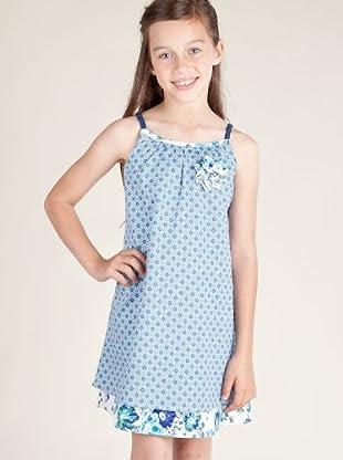 Kenzo Kids Vestido Broche (crudo / azul)