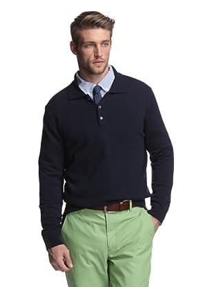 Oxxford Men's Polo Sweater (Navy)