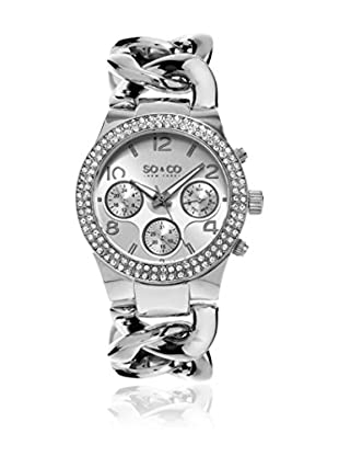 SO & CO New York Reloj de cuarzo  Plateado 38 mm
