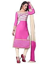 Viva N Diva Pink Color Cotton Suit.