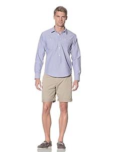 Rhythm Men's Gringo Woven Long Sleeve Shirt (Blue)