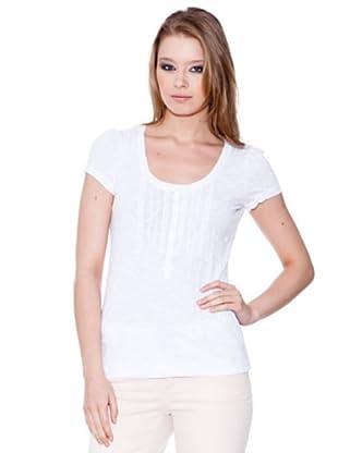 Esprit Camiseta Henley (Blanco)