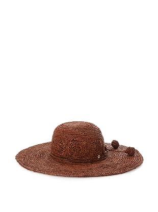 Florabella Women's Daisy Crochet Raffia Hat (Brown)