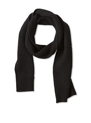 Sofia Cashmere Men's Thermal Stitch Scarf (Black)