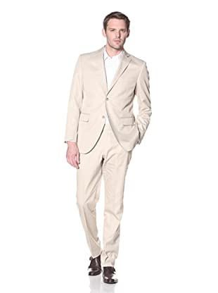Lubiam Studio Men's Suit in Loro Piana Fabric (Beige/Khaki)