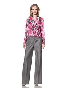 Jones New York Collection Women's Slash Pocket Flare Leg Pant (Shadow Grey)