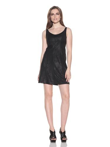 under.ligne by Doo.Ri Women's Tank Dress with Seamed Detail (Black)