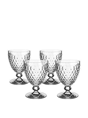 Villeroy & Boch Boston Set of 4 Red Wine Glasses, Clear