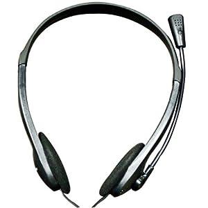 Adcom AHP-811 Wired Headphone With MIC (Black)