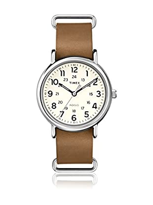TIMEX Reloj de cuarzo Unisex Unisex Weekender Slip Through Marrón 40 mm