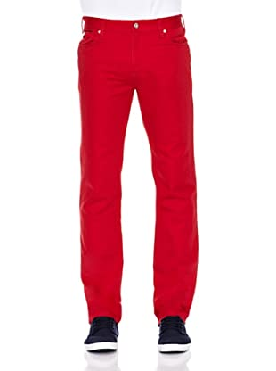 Pedro del Hierro Pantalón Bolsillos Color Ppt (Rojo)