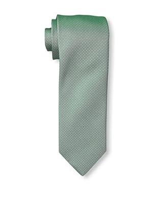 Rossovivo Men's Dot Tie, Green/White